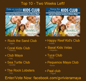 Grand Velas Riviera Maya Kids Club Contest
