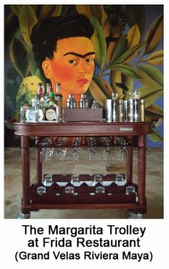 The Margarita Trolley at Frida Restaurant
