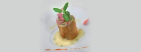 Taco crujiente - Pure de piña