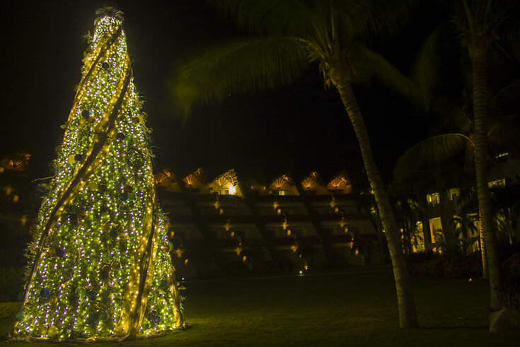 Christmas tree at Grand Velas Riviera Maya