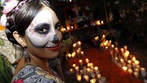 """21101155. Solidaridad, QRoo.- Se llevó a cabo el evento """"Día de los Muertos, tradición y cultura ancestral maya"""", en el marco del Sétimo Festival de Tradiciones de Vida y Muerte 2012, parque Xcaret, Rivera Maya. NOTIMEX/FOTO/JORGE ARCIGA/JAA/HUM/MUERTOS12"""