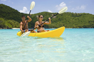 sian ka'an, couple kayaking