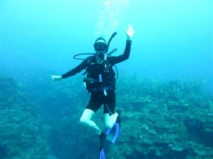 diving in Bacalar