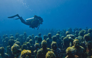 Diving in Riviera Maya, Underwater Art Museum