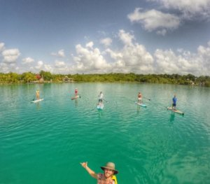 4th Paddle Marathon in Bacalar Lagoon