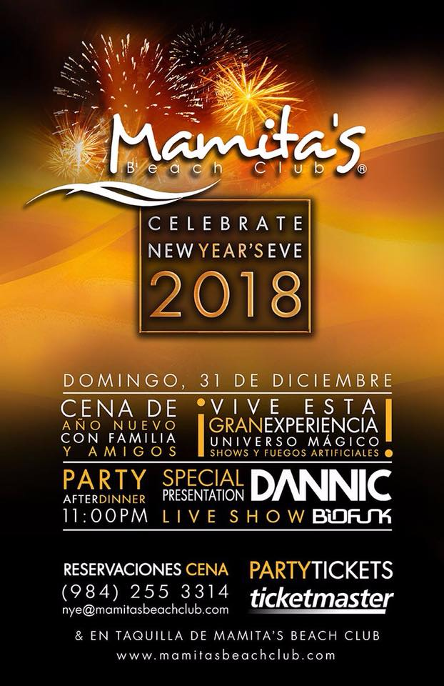 NYE 2018 Mamita's Beach Club, the best party ever!