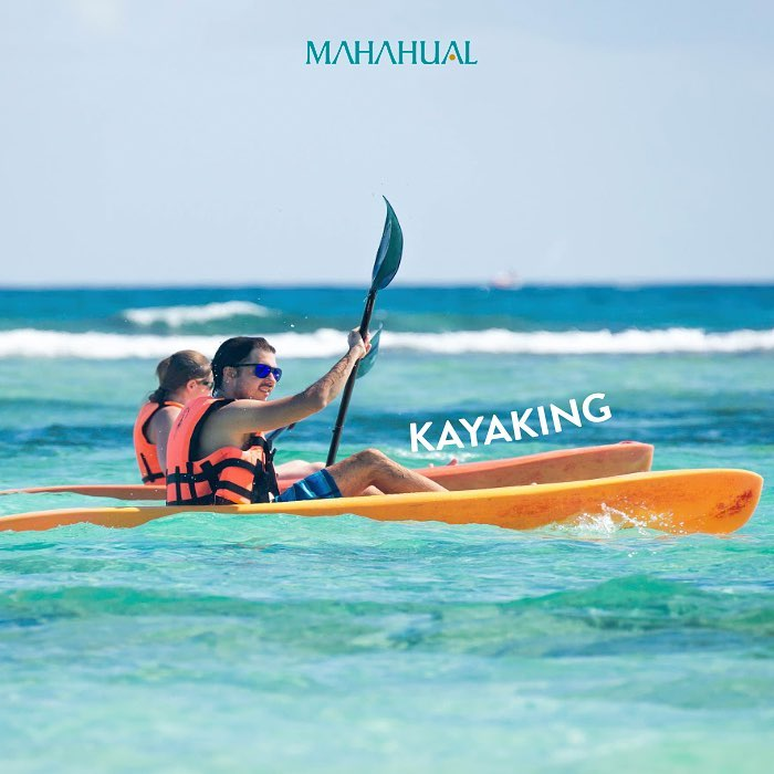 Kayak en el Caribe Mahahual