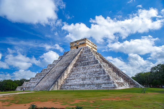 Temple of Kukulkan in Mayan city Chichen Itza