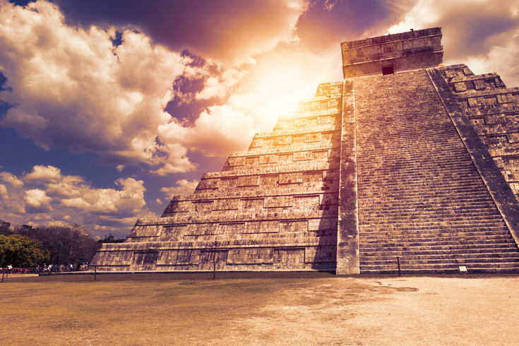 "Temple of Kukulcan, also known as ""El Castillo"", in Chichen Itza at Riviera Maya"