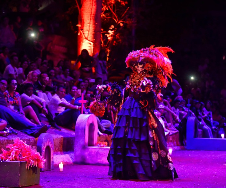 Festival of Life and Dead at Xcaret theme park